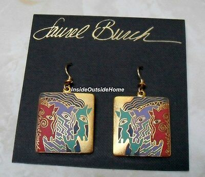 Laurel Burch Horse Moroccan Mares Earrings Brights Sandstone Retired ALMOST GONE ()