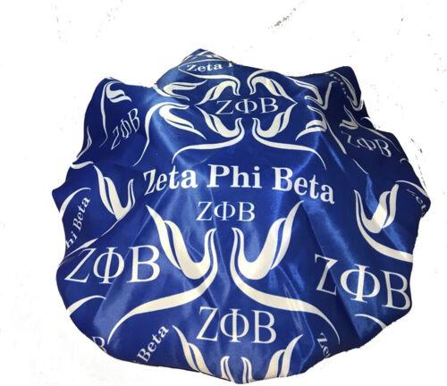 Zeta Phi Beta Sorority Sleep Bonnet Cap-Blue- Size Large- New!