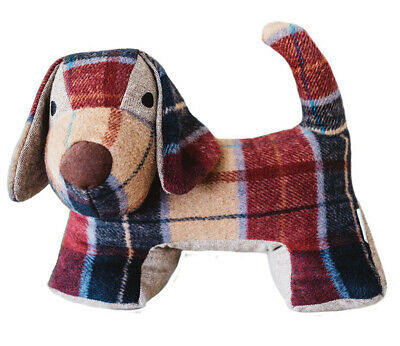 Door Stopper Samuel Lamont Red Tweed Print Dog Stopper Best Irish (Best Doggy Doors)