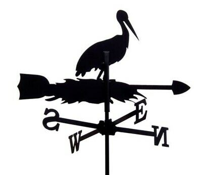 Standard Stork Metal Weathervane (Vertical Fixing Bracket)