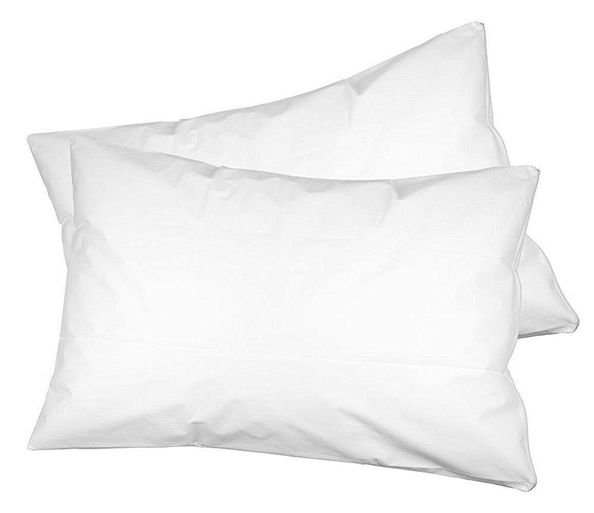 Set of 2, Spunbonded fabric Pillow Protectors with zipper.