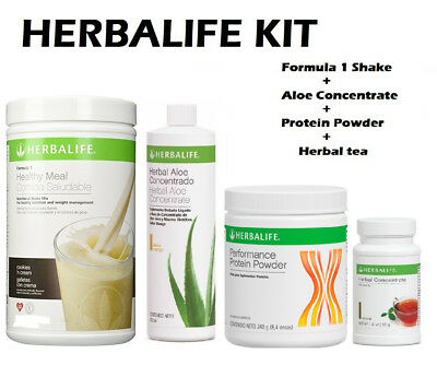 Herbalife Kit Formula 1 550G Aloe Concentrate Herbal Tea  Protein Powder