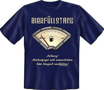 T-Shirt Fun Shirt Alkohol Bierfüllstand Bier S - XXXL