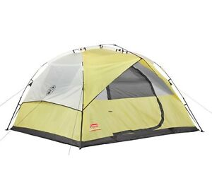 NEW COLEMAN 6 Person Instant Dome Waterproof Camping Double Hub Tent | 10' x 9'