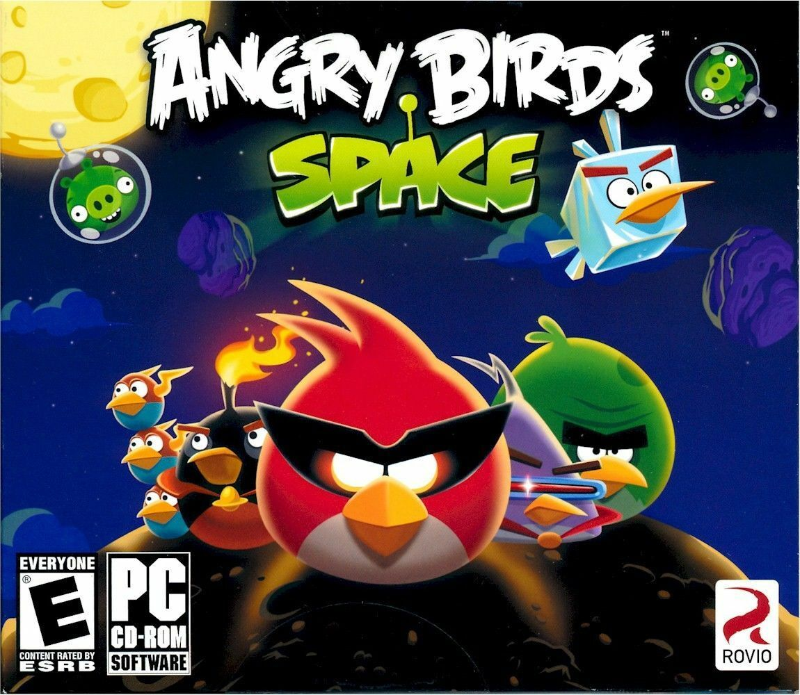 Computer Games - Angry Birds Space PC Games Windows 10 8 7 XP Computer angry birds arcade puzzle