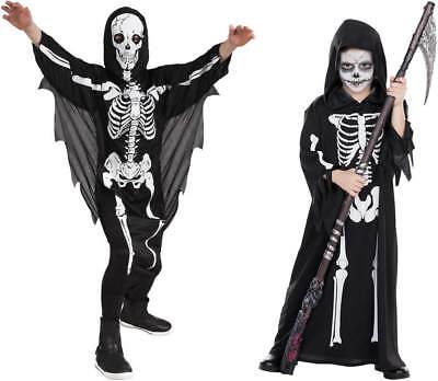 Skeleton Skelett Horror Kinder Karneval Halloween Kostüm - Skelett Halloween Kostüm Kind