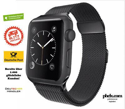 Apple Watch SERIES 4 (44mm) MILANAISE Armband SCHWARZ | Nur Band