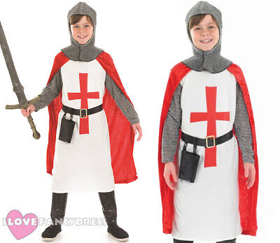 BOYS ST GEORGE KNIGHT CRUSADER COSTUME MEDIEVAL FANCY DRESS KING ARTHUR OUTFIT](King George Costume)