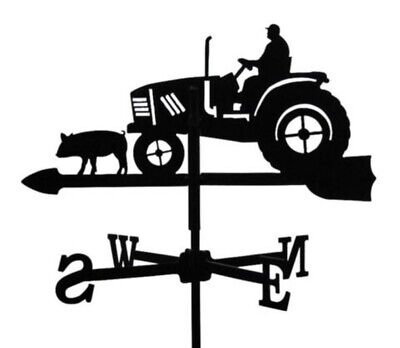 Standard Tractor Metal Weathervane (Post Fixing Bracket)