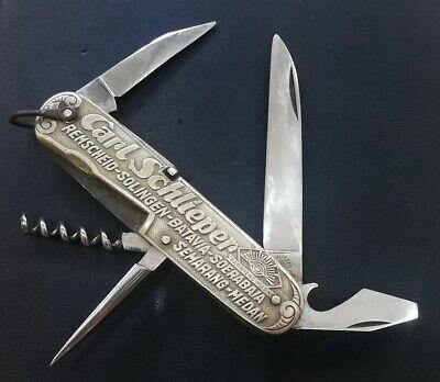 Vintage Carl Schlieper Folding Pocket Knife Steel SOLINGEN Eye Brand Germany