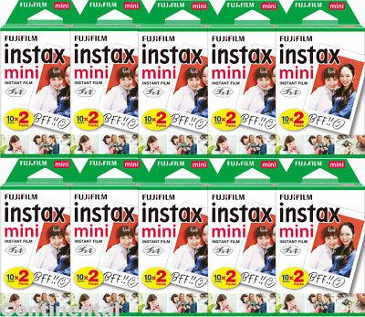 200 Prints Fujifilm Instax Mini Critical Film for Mini 9, 8, 7s & Pol 300 Camera