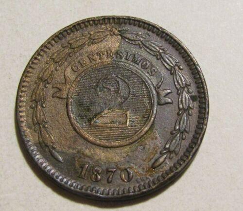 Paraguay 1870 2 Centavos Coin