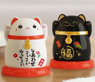 Set of 2 Toothpick Dispenser Holder ~ Maneki Neko Japanese Lucky Cat Design USA