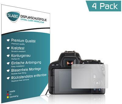 """Slabo Displayschutzfolie für Canon EOS 200D (4er Set) KLAR """"Crystal Clear"""""""