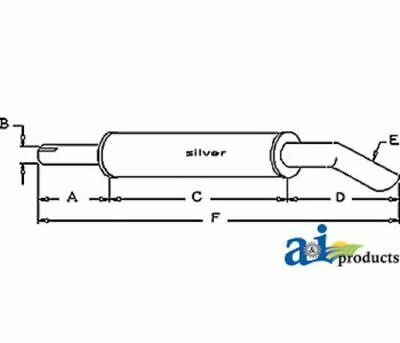 Long Tractor Horizontal Muffler 260 310 350 360