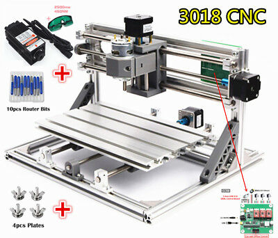 Diy Mini Cnc 3018 2500mw Laser Machine Pcb Milling Woodworking Engraving Router