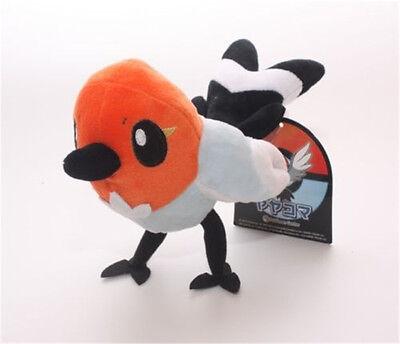 "Pokemon XY Fletchling Yayakoma Bird Flying Type Plush Toy Stuffed Animal 5"" US"