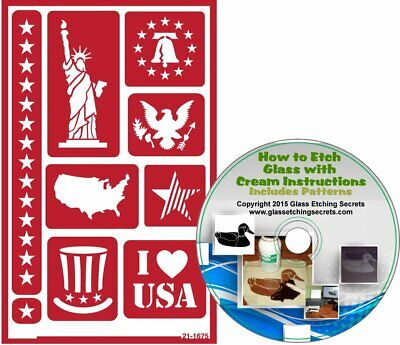 American Patriotic Reusable, Adhesive Stencils: Statue of Liberty, Liberty Bell