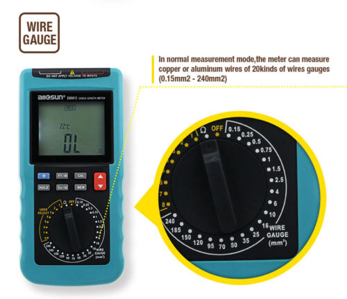 Cable Wire Length Meter Digital Electric Cable Tool Resistance Tester Up to 30KM