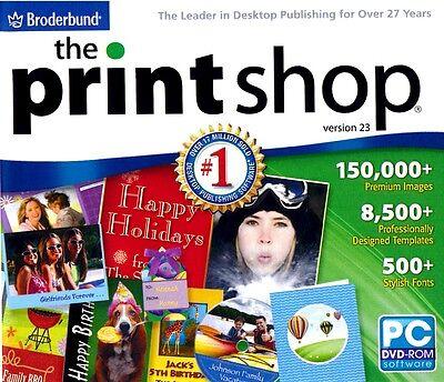 The Print Shop Version 23 by Broderbund for Windows 10, 8.1, 8, 7, Vista