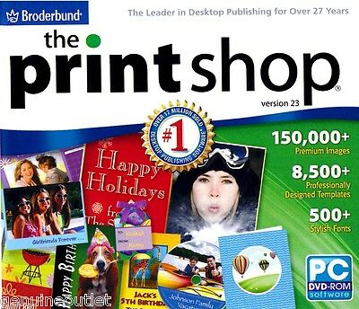 The Print Shop Version 23 PC Printshop Desktop Publishing Full Version NEW