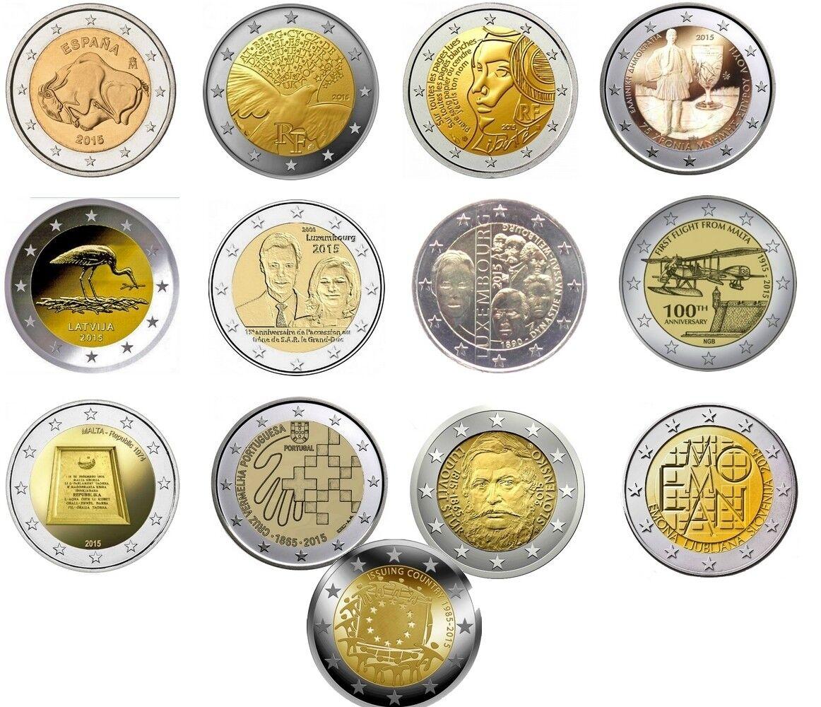 2 euros commemorative 2015 neuve unc plusieurs pays dispo à choisir