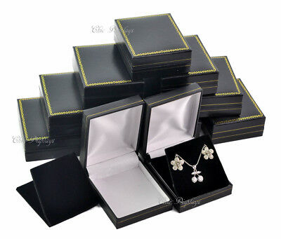 Jewelry Gift Boxes For Necklace And Earrings Jewelry Boxes Black Gift Boxes 12pc