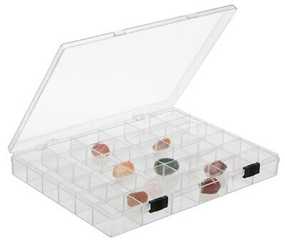 Rock Collection Box with 36 Compartments