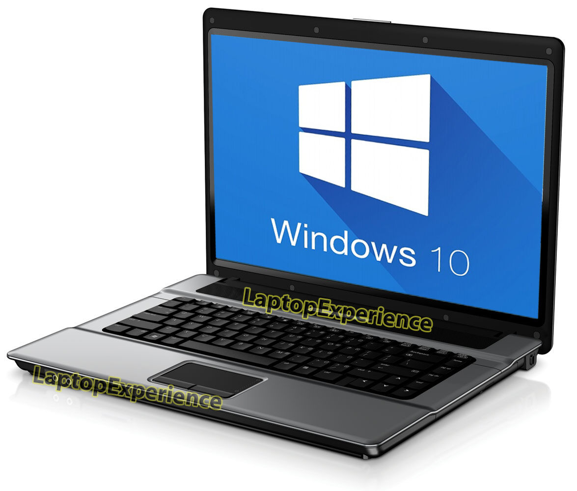 "HP LAPTOP NOTEBOOK PC WINDOWS 10 WIN INTEL CORE 2 DUO 4GB 14.1"" HD DVD COMPUTER"