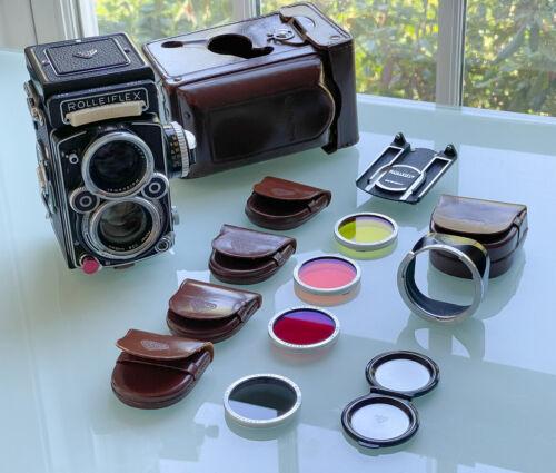Rollei Rolleiflex 2.8F TLR Camera, Planar 80mm f2.8 plus Rolley Accessories