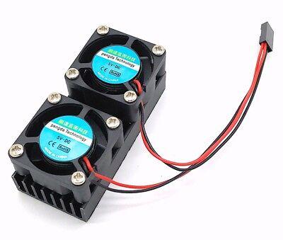 Dual Lüfter für Raspberry Pi Kühlkörper Fan Doppel Lüfter Kit
