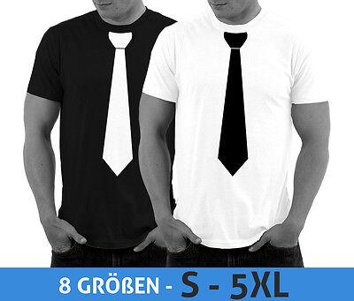 T-Shirt mit Krawatte Junggesellenabschied JGA Party Shirt Smoking Kostüm S - 5XL