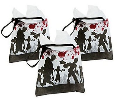 Pack of 6 - Zombie Tote Bags - Halloween Party Loot Trick or Treat - Batman Trick Or Treat Bag