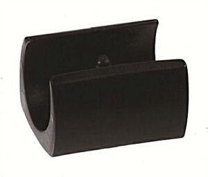 4 stuhlgleiter klemmschalengl f r stahlrohrst hle kunststoff schwarz weiss ebay. Black Bedroom Furniture Sets. Home Design Ideas