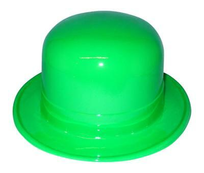 12 Plastic Green Derby Hats For St Patrick's Day Parties & Craft Projects