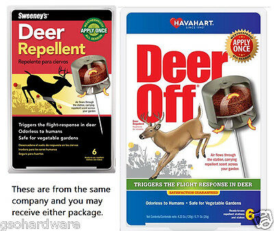 Havahart Deer - Sweeney's Havahart DEER OFF S5600 / 5600 All Season Deer Repellent 6 Count  NEW!