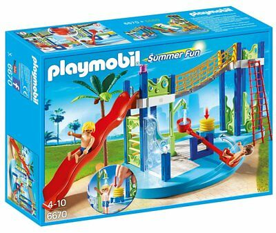 PLAYMOBIL 6670 Summer Fun Water Park Play Area New sealed in
