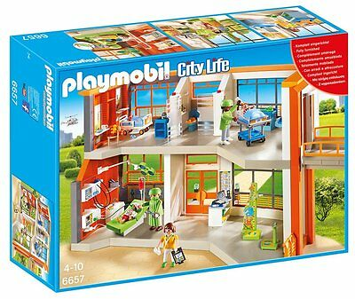 Playmobil 6657 Furnished Children's Hospital Playset NEW SEALED WORLDWIDE