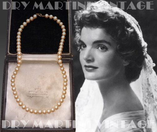 VINTAGE LUSTROUS GLASS PEARL CHOKER NECKLACE 12K GOLD FILLED CLASP CLASSIC BRIDE