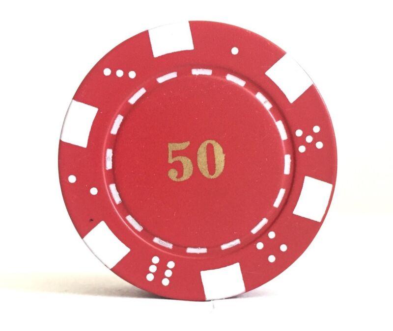 Refillable 50 Poker Chip Butane Cigarette Lighter