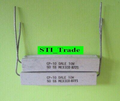 2x 5.0 Ohm 10 Watt 10w Resistors 5.0 Ohm 5 2 10w Resistors 5 Ohm On Sale