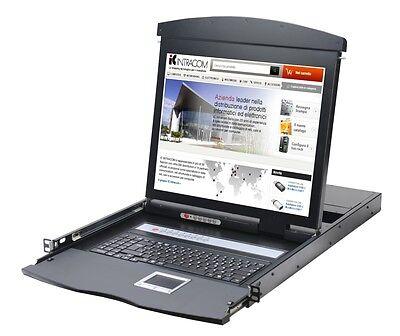 Intellinet Consola KVM Switch 8 Puertas USB/PS2 Con LCD 19'' De Rack...