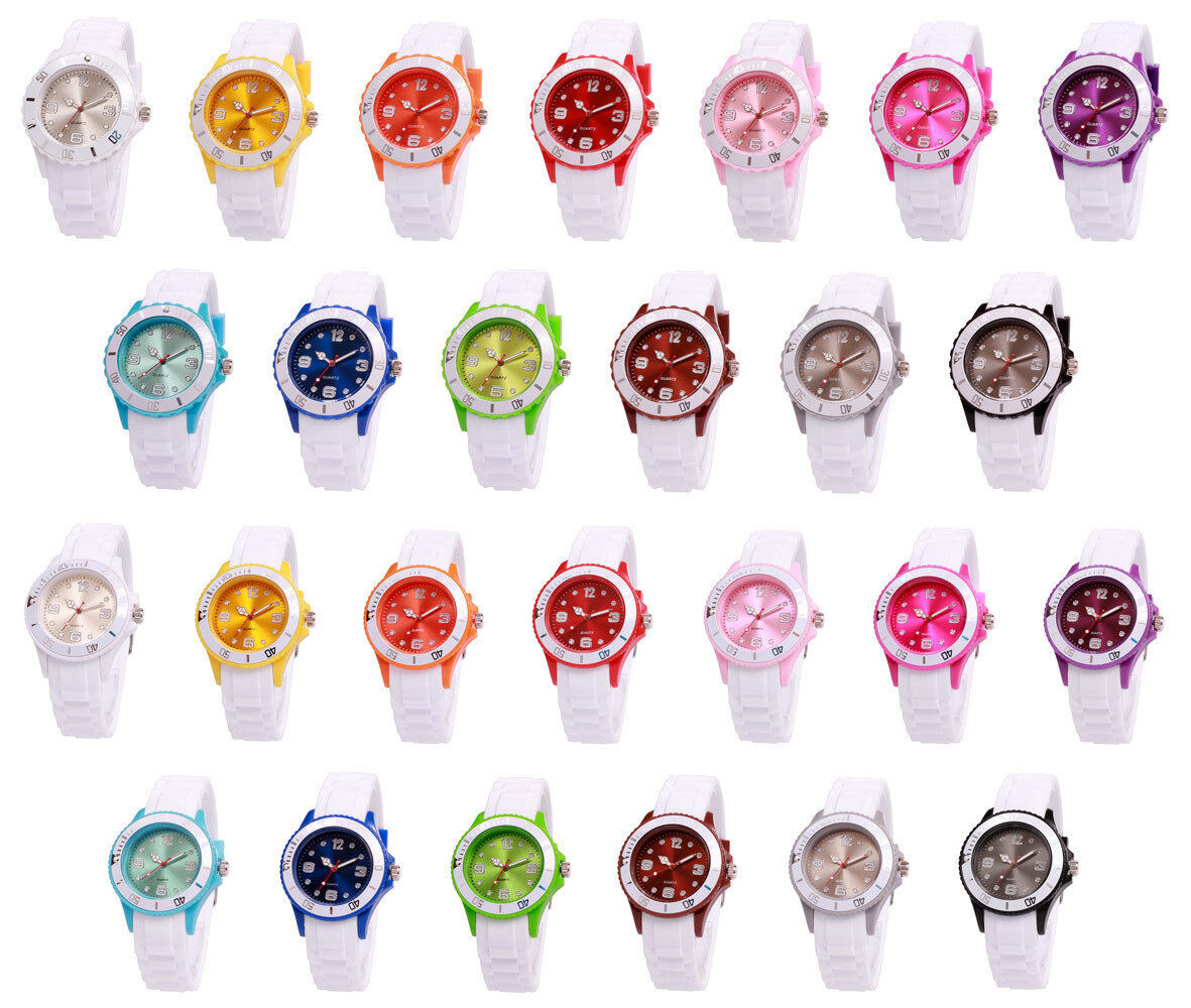 sv24 Watch Silikon Uhr Armbanduhr Damenuhr Herren Sport Trend Kinderuhr Farbwahl