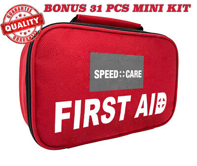 New All Purpose 152 Pc Emergency First Aid Kit Car Home Outdoor Survival Hiking