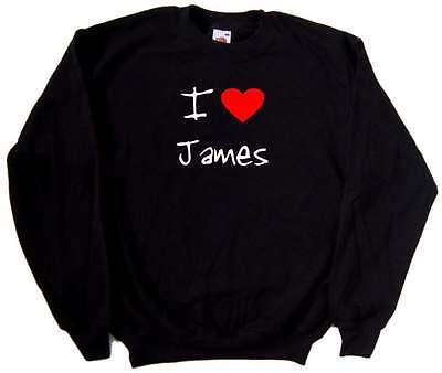 I Love Heart James Sweatshirt