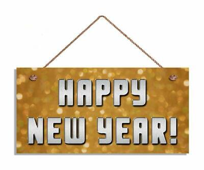 Happy New Year Sign Sparkly Lights Holiday Sign 5
