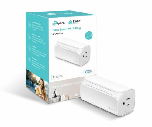 TP-Link Kasa Smart 2-Outlet Wi-Fi Smart Plug | Alexa Google Home | HS107