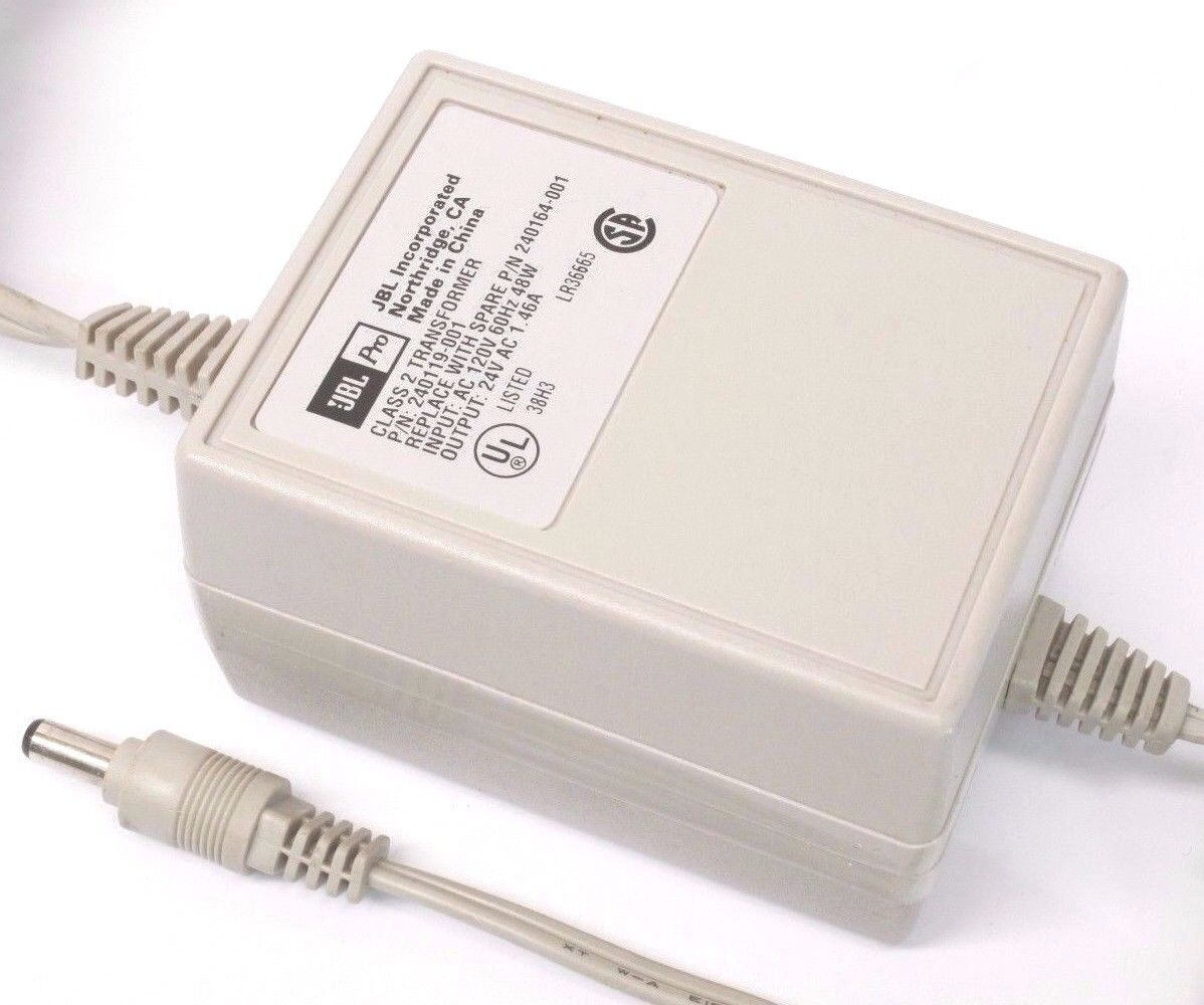 JBL Pro AC Power Adapter Transformer 240119-001 24V 1.46A Replacement 240164-001