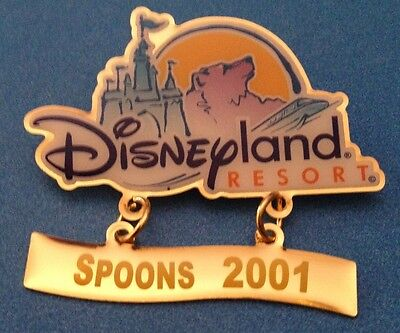 Dca Disney California Adventure Spoons Foods Monorail Cast Opening 2001 Pin New