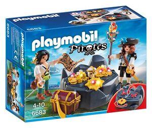 Playmobil-Piratas-6683-Escondite-del-tesoro-con-piratas-De-4-a-10-anos